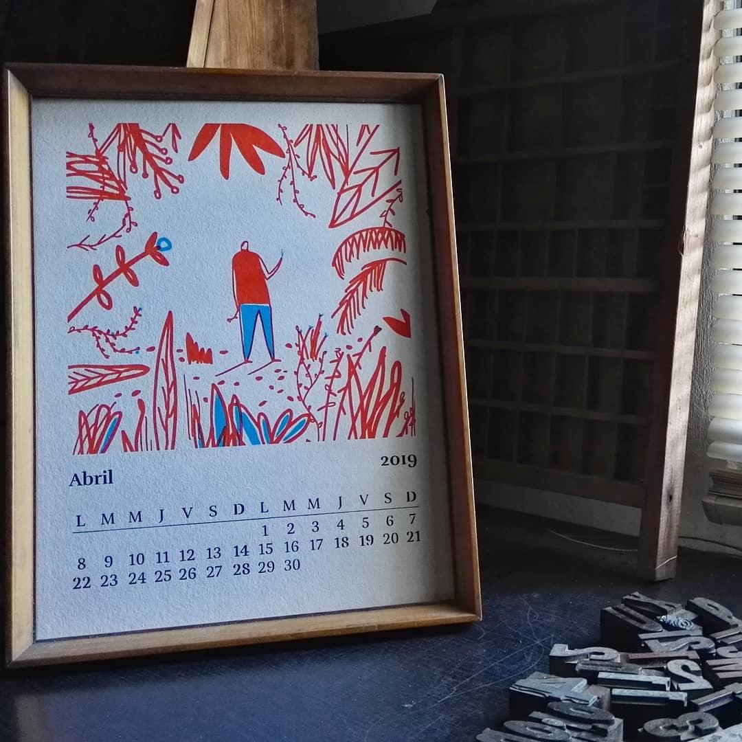 Este año viene pasando muy rápido ?? Hace tres días que llegó ABRIL y nosotros aún sin cambiar de lámina en el calendario … ?  Ilustración  @matosledge