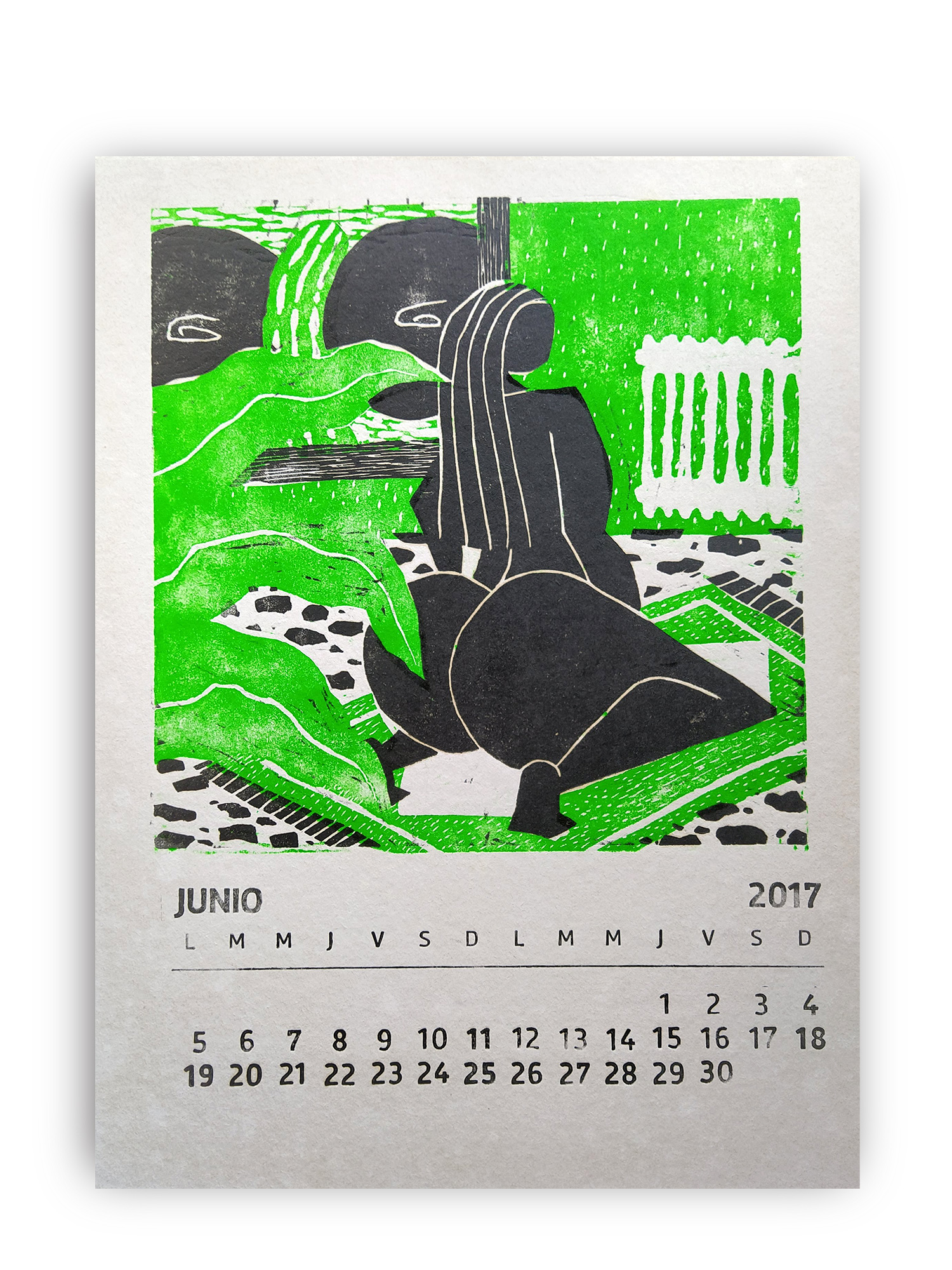 Antonio Carrau (Atolón) / Xilografía